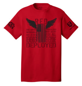 Proof - RED Shirt - front