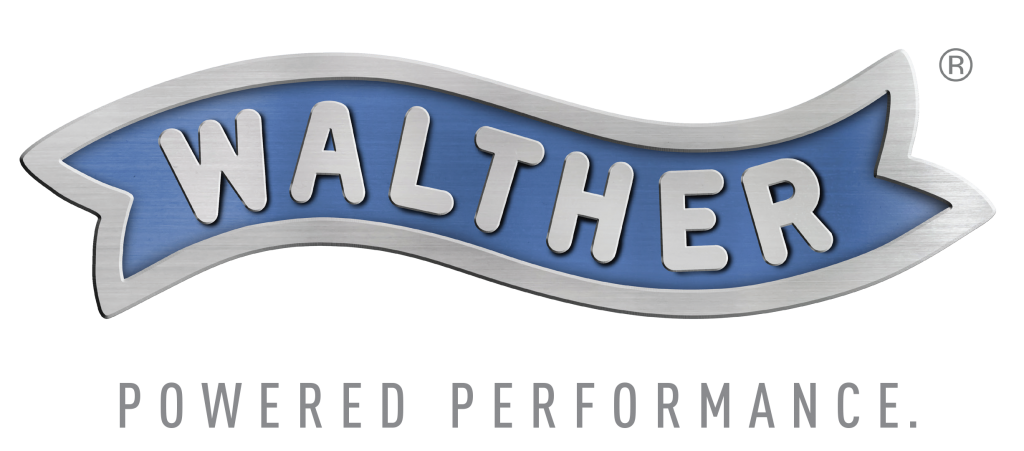 Walther_Metal Logo_Powered Performance